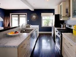 White And Blue Kitchen Cabinets Countertops For Small Kitchens Pictures U0026 Ideas From Hgtv Hgtv