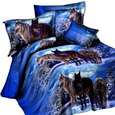 Wolf Bedding Set Winter Wolf Bedding Set Bestofnative