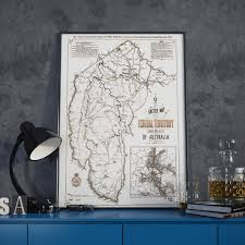 World Map Prints by Topographic Map Of Canberra City District U2013 Australia