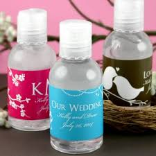 practical wedding favors personalized sanitizers practical wedding favors