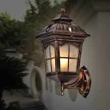 light bulb for outdoor fixture american vintage bronze aluminum waterproof outdoor wall sconce l