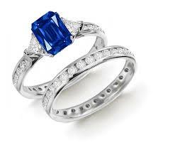 gemstones wedding rings images Designer colored gemstone engagement rings wedding rings sets jpg