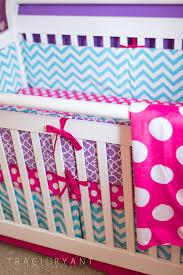 girly chevron and polka dots turquoise chevron crib and bald