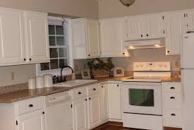 Cream Colored Kitchen Cabinets With White Appliances by Painting Kitchen Cabinets Cream Home Design Ideas