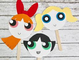 powerpuff girls paper plate masks smashed peas u0026 carrots
