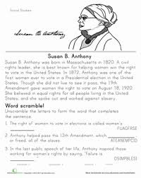 historical heroes susan b anthony susan anthony second grade