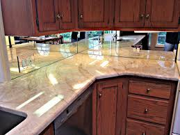 Mirrored Kitchen Backsplash Small L Shape Kitchen Decorating Design Ideas Using White Marble