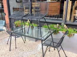 mid century russell woodard sculptura wire mesh patio chairs set of