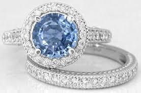 light blue sapphire engagement rings blue sapphire wedding ring tbrb info