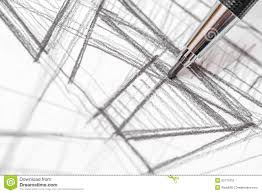drawing house plans free architect hand drawing house plan sketch stock photo image 50771816