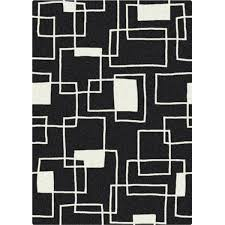 Modern Black Rugs Black And White Offbeat Black Box Rug Free Shipping