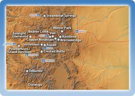 map of colorado ski resorts colorado ski resorts