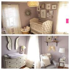 Nursery Paint Colors Mila U0027s Purple Gray Modern Glamour White Bookshelves Purple Gray