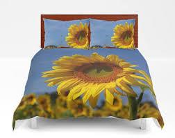 Sunflower Themed Bedroom Sunflower Bedding Etsy