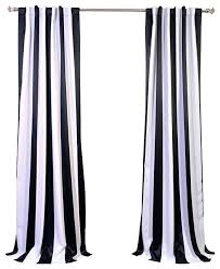 White And Grey Curtains White And Black Curtains Teawing Co