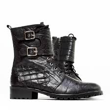leather biker boots shoes elephant patterned leather biker boots 426 for only 239 00