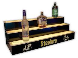 led lighted bar shelves lighted bar shelves 3 tiers custom options free shipping liquor