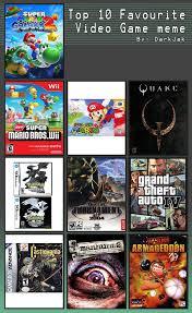 Top 10 Video Game Memes - some top 10 video game meme by deathmetalweavile201 on deviantart