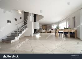 Living Room With Stairs by New Apartment Large Living Room Stairs Stock Photo 70825366