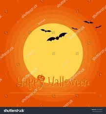 Happy Halloween Poster Template Background Design Stock Vector