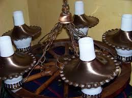 wagon wheel ceiling fan light vintage wagon wheel chandelier use glass bottles for tree house