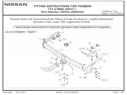 nissan x trail tow bar wiring diagram tamahuproject org