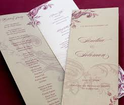 folded wedding program wedding ceremony programs invitations by ajalon