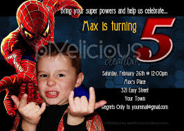 spiderman birthday invitations birthday party invitations