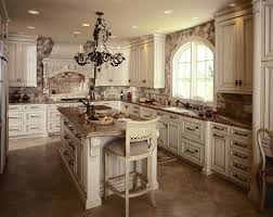 fabulous tuscan style kitchen cabinets in white color for gorgeous