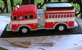 firetruck cakes truck birthday cake with 5 alarm