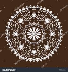 henna mehndi flower template doodle stock vector 615784721