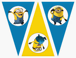 minions free printable bunting labels toppers