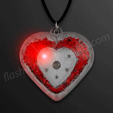 blinking jewelry led acrylic necklaces by