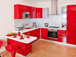 Diy Kitchen Cabinets Ideas Kitchen Small Kitchen Design With Red White Cabinet Storage And