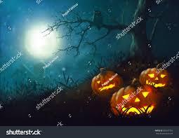 illustration scarecrow halloween night farmdark fantasy stock