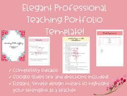professional teaching portfolio template editable elegant