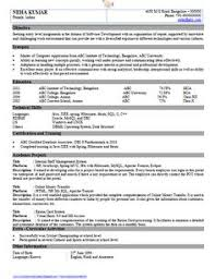 Software Engineer Resume Templates Resume Format Pdf For Freshers Latest Professional Resume Formats