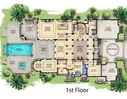 custom home blueprints valuable 5 mediterranean custom home floor plans houzz house
