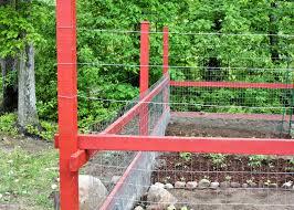 Deer Proof Fence For Vegetable Garden Red House Garden Our New Red Veggie Garden