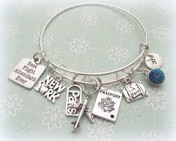 Flight attendant gift flight attendant charm bracelet gift ideas
