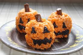 jack o u0027 lantern rice krispie treats bug u0027s baking blog