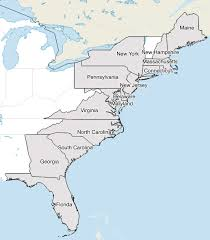 map of east coast states how many states are along the east and coasts geography