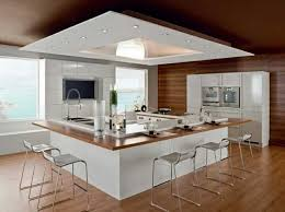 faux plafond cuisine ouverte exceptionnel modele cuisine ouverte avec bar 10 faux plafond