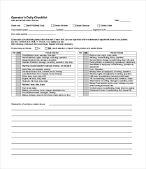 Maintenance Checklist Template Excel Daily Checklist Template 18 Free Word Excel Pdf Documents