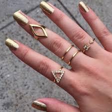 ring set two finger rings ring finger ring two finger ring