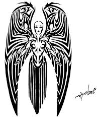 37 best angel tribal tattoos images on pinterest tribal tattoos