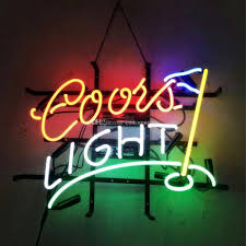 coors light bar sign 17x14 coors light golf flag store real glass neon sign beer sports