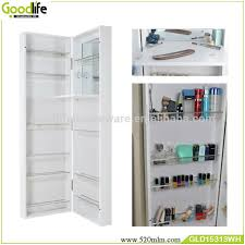 door ganging or wall mounted makeup storage cabinet with dressing