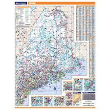 Maine County Map Maine Laminated State Wall Map