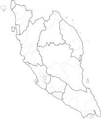 Thailand Blank Map by Peninsular Clipart
